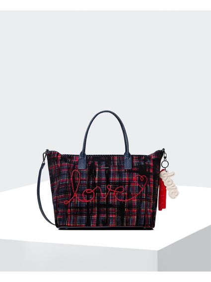 Love Rope Check Shoulder Bag