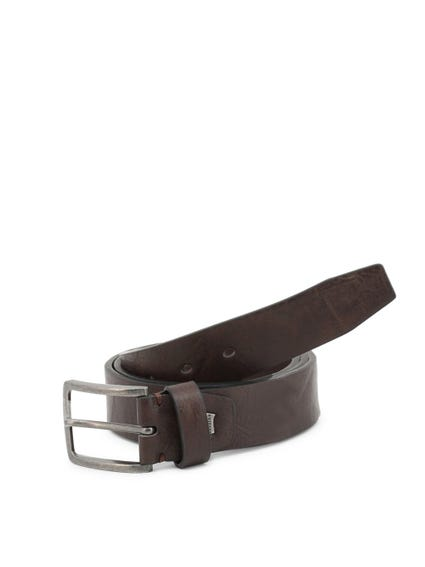 Brown Leather Buckle Pin Belt