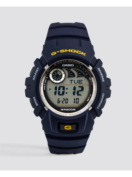 Navy Resin Band Digital Watch