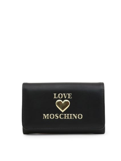 Black Embossed Snap Wallet