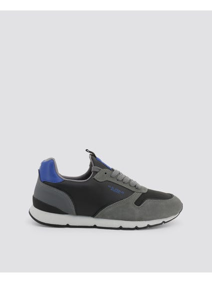 Grey Maxil Contrast Sole Sneakers