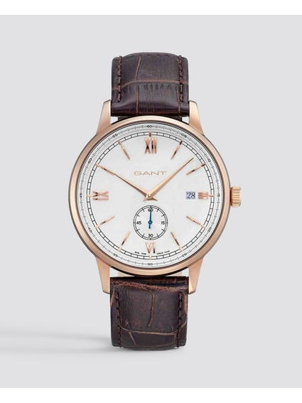 Brown Freeport Analog Leather Watch