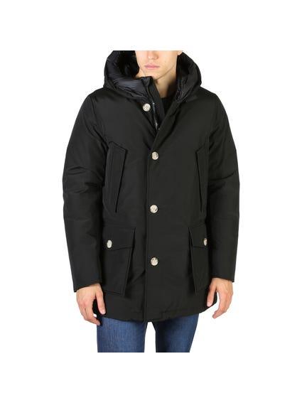 Black Arctic Button Parka Jacket