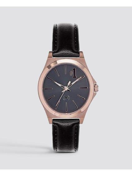 Black Marina Stainless Steel Watch