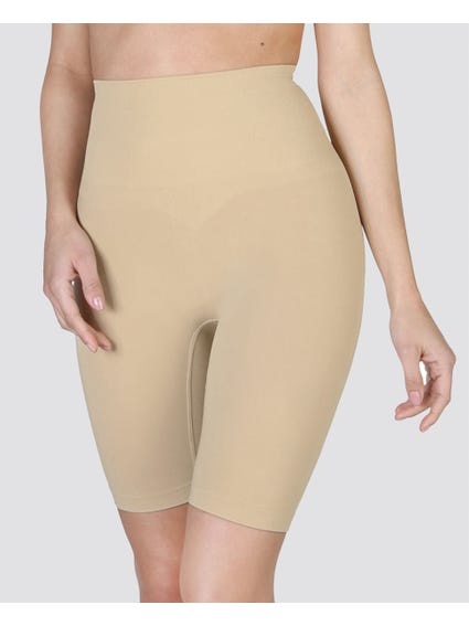 Brown High waist Shaping Shorts