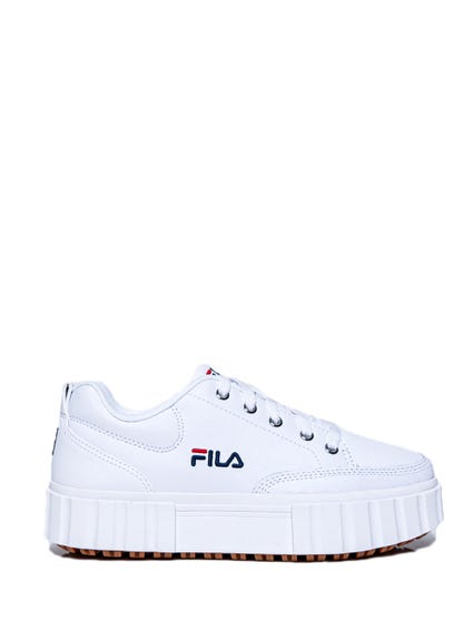 White High Sole Lace Up Sneakers