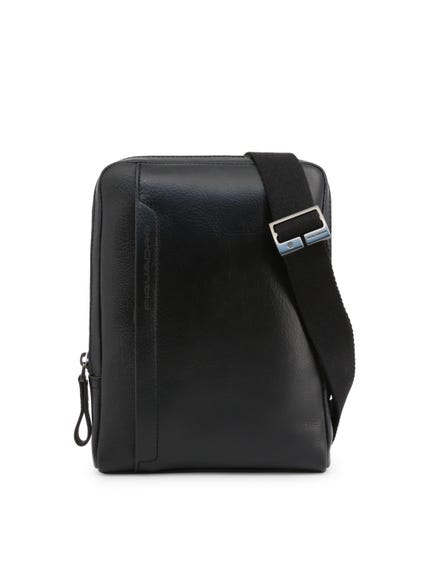 Black Shoulder Strap Zip Crossbody Bag