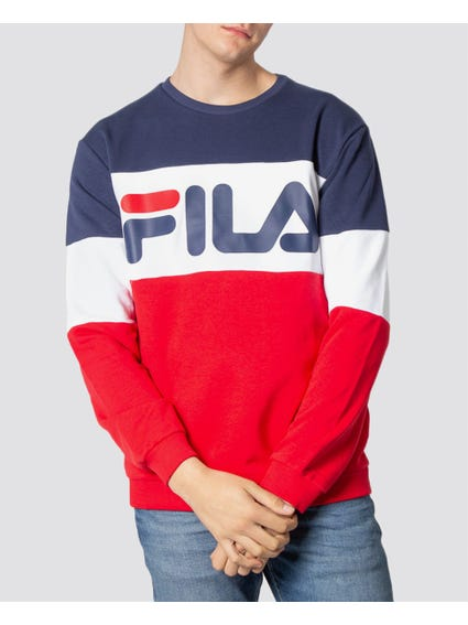 Blue Multi Logo Print Sweatshirt