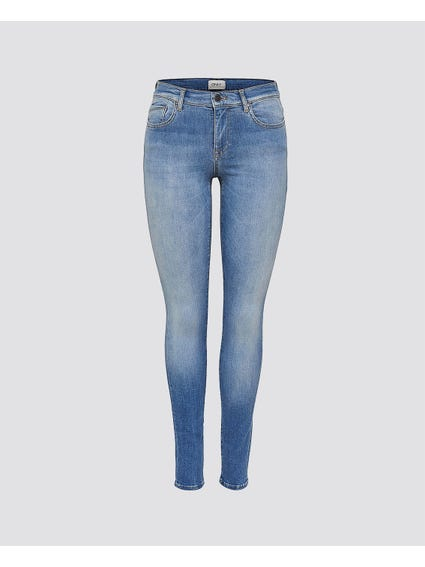 Blue Faded Denim Skinny Jeans
