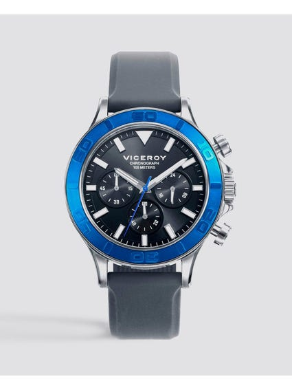 Heat Black Dial Silicon Strap Watch
