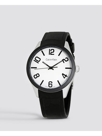 Color White Dial Rubber Watch