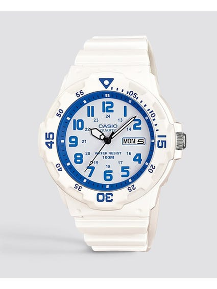 White Resin Band Analog Watch