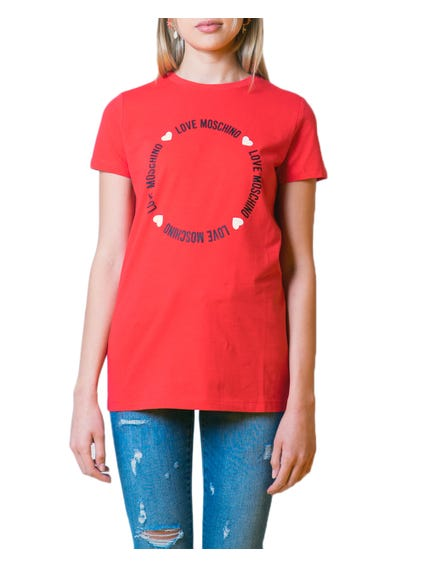 Red Graphic Logo Short Sleeve T-Shirt