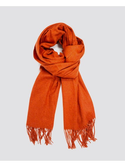 Orange North Wool Scarf