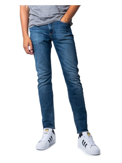 Denim Wash Zip Slim Fit Jeans