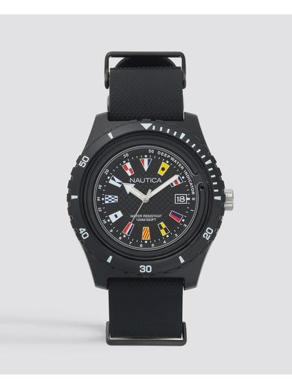 Black Surfside 3-Hand Watch