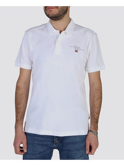 White Elbas Short Sleeves Polo