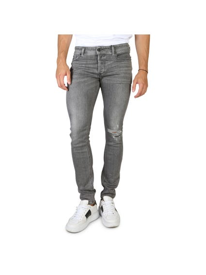 Regular Fit Knee Stripped Jeans