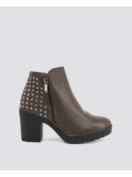 Studded Back Ankle Boots