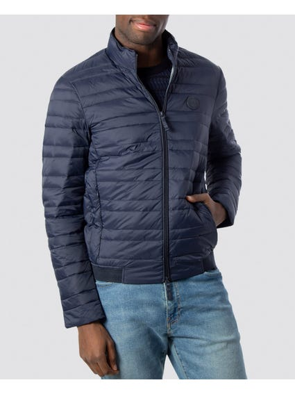Navy Patch Duffle Jacket