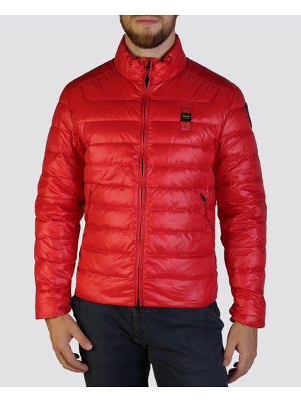 Red Contrast Cuff Jacket