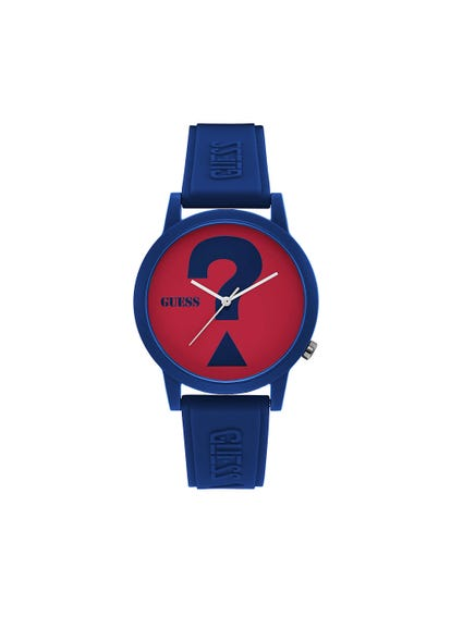 Red Dial Rubber Strap Watch