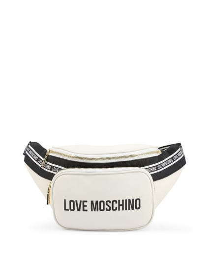 White Logo Display Zip Pouch Bag