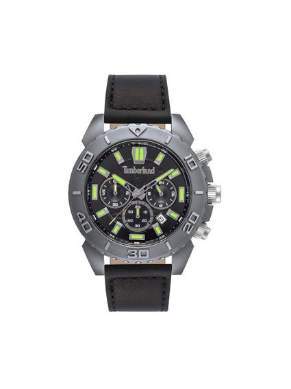 Round Black Strap Analog Watch