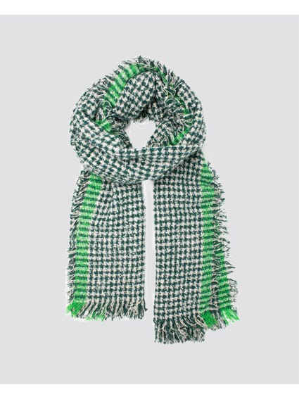 Green Franny Checked Scarf