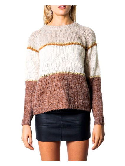 Multi Round Neck  Block Knitwear