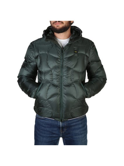 Green Quilted Hooded Jacket