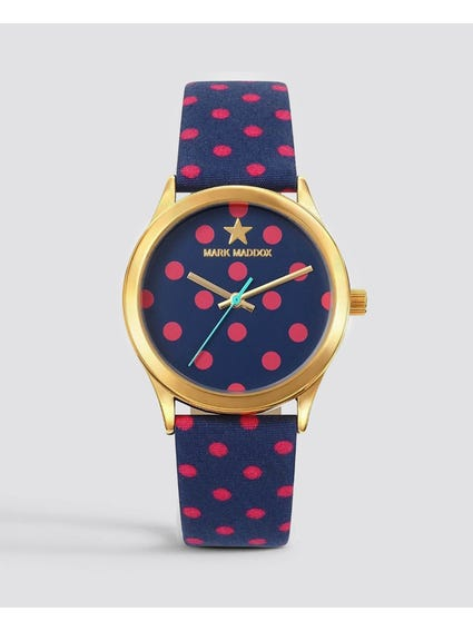 Polka Dots Stainless Steel Watch