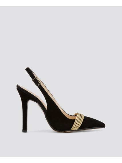 Black La Notte Pumps