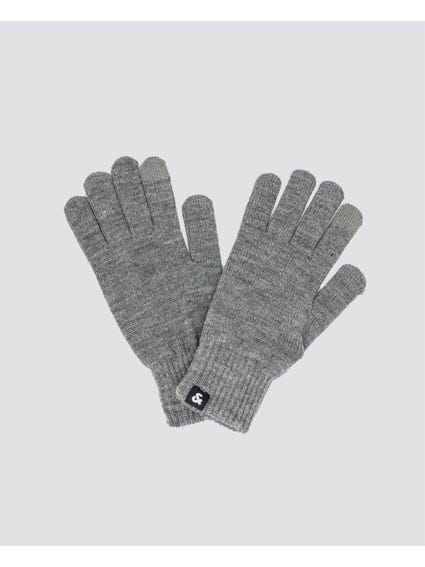 Grey Basic Knitted Gloves