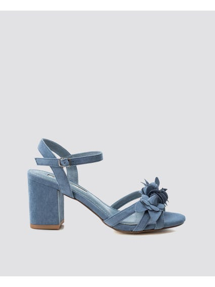 Blue Ankle Strap Sandals