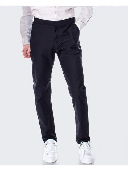 Black Plain Chino Trouser