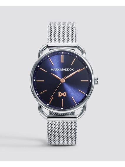 Silver Midtown Mesh Watch