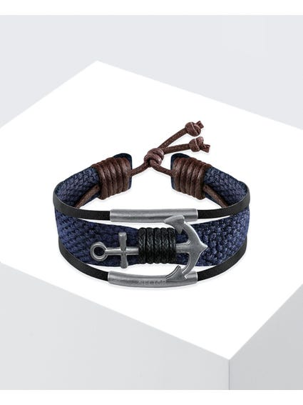 Blue Rude Anchor Bracelet
