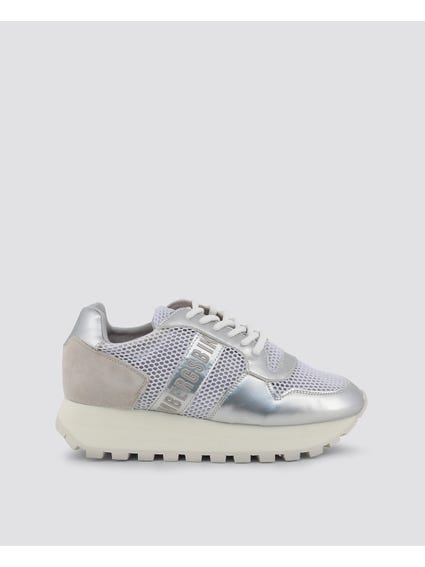 Silver Patent Fender Sneakers