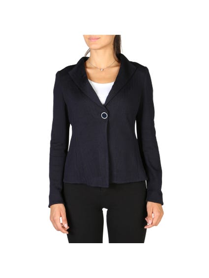 Collar Neck Single Button Blazer