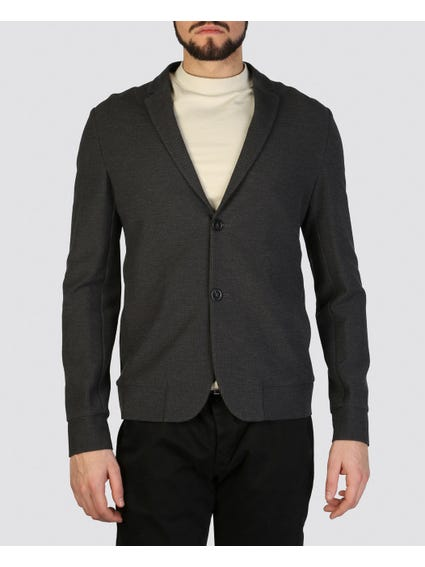 V  Neck Button Blazer