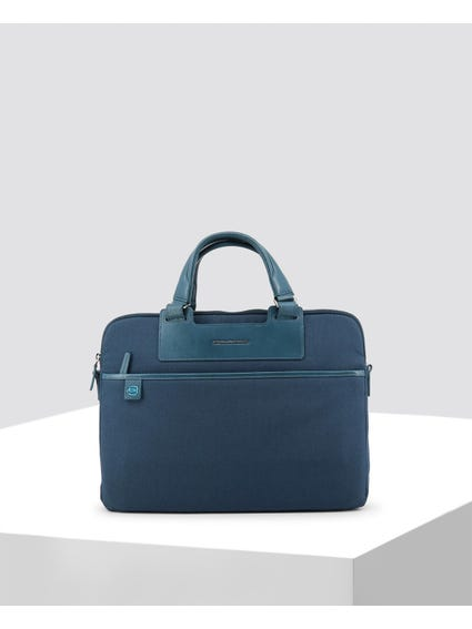 Blue Two Compartments Briefcase