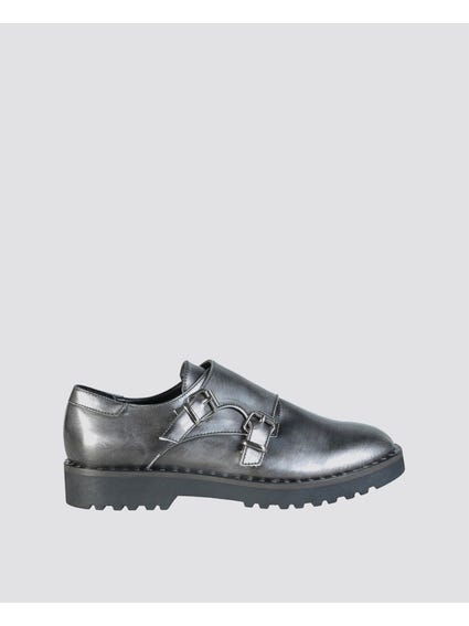 Grey Edit Leather Slip Ons