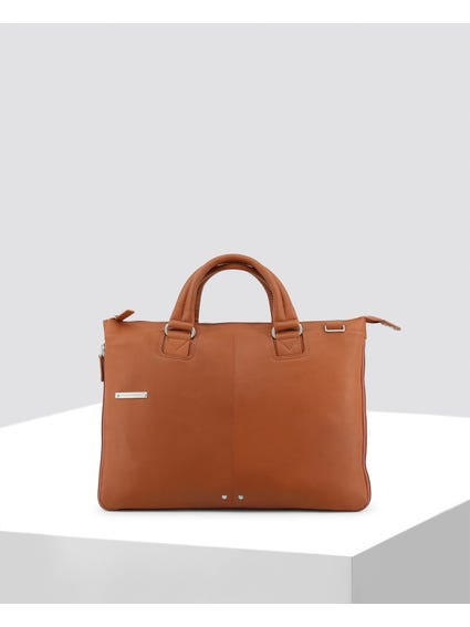 Brown Patch Logo Briefcase