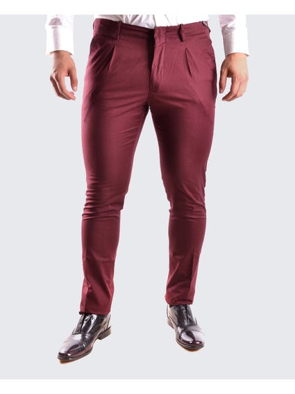 Purple Plain Skinny Trouser