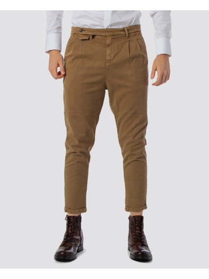 Brown Side Button Trouser