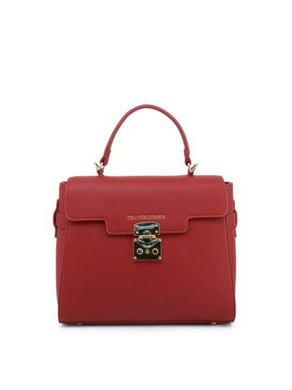 Red Firebrick Leather Handbag