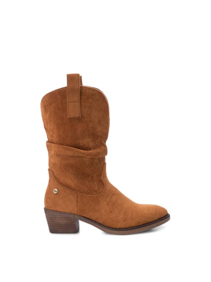 Brown Side Zip Ankle Boots
