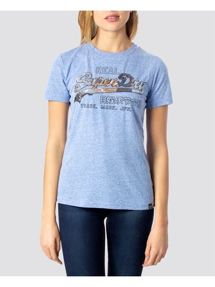 Vintage Logo Stitch Sequin T-Shirt
