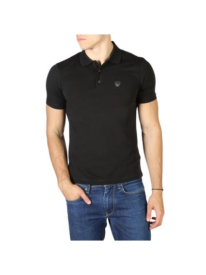 Button Short Sleeve Logo Polo Shirt